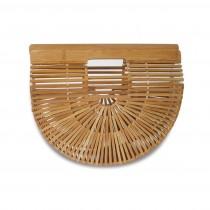 (イウハ) IUHA 竹製 自然派 軽量 かごバッグ 竹かご 竹籠バッグ お財布 小物収納