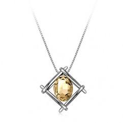 IUHA 【印象-美結晶】 ネックレス 人工宝石 (シトリン (黄水晶))