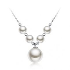 ブランドIUHA 【月の雫 真珠シリーズ】 玉響パールネックレス S925 シルバー