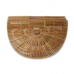 (イウハ) IUHA 半円形竹籠バッグ 自然派 軽量 かごバッグ 竹かご 竹細工 お財布 小物収納