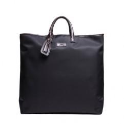 本革&ナイロン ビジネスバッグ 男女兼用 ハンドバッグ ショルダーバッグ A4 大容量 ブラック