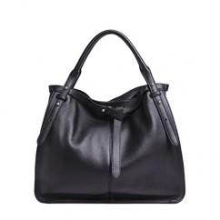牛革 本革 3way大容量持ち手調整可能な柔らかいトートバッグ ハンドバッグ ショルダーバッグ ブラック