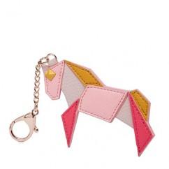 IUHA★ギフトに最適 バイカラー 馬 ポニーパズル チャーム バッグチャーム (ピンク)